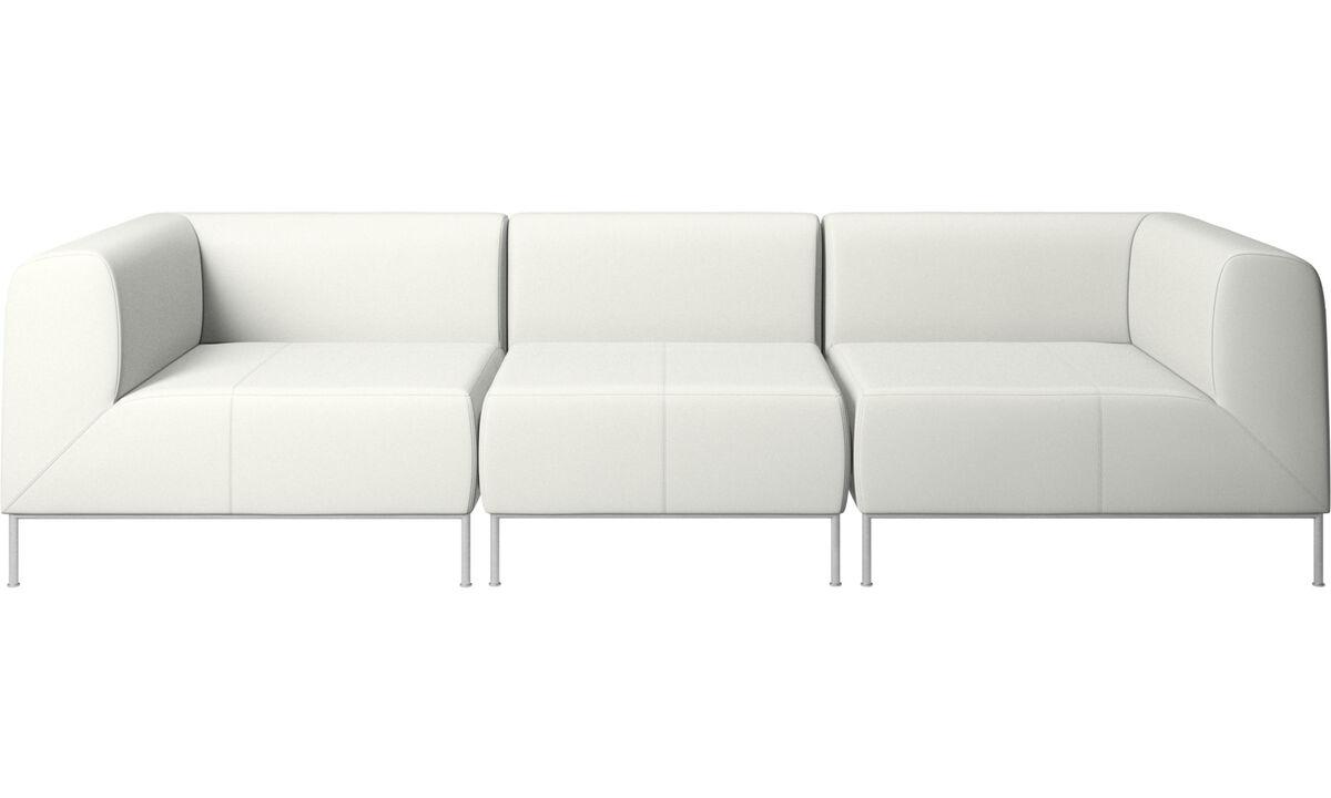 Sofás modulares - Sofá Miami - Blanco - Piel