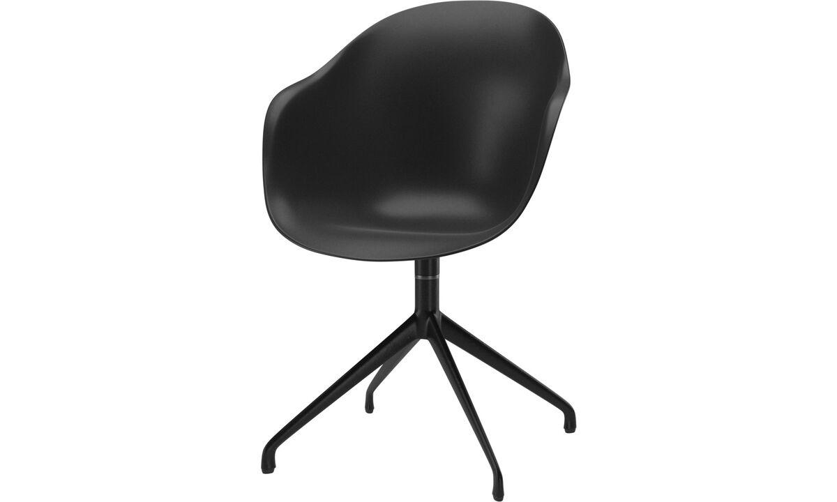 Chaises de salle à manger - chaise Adelaide avec fonction pivotante - Noir - Laqué
