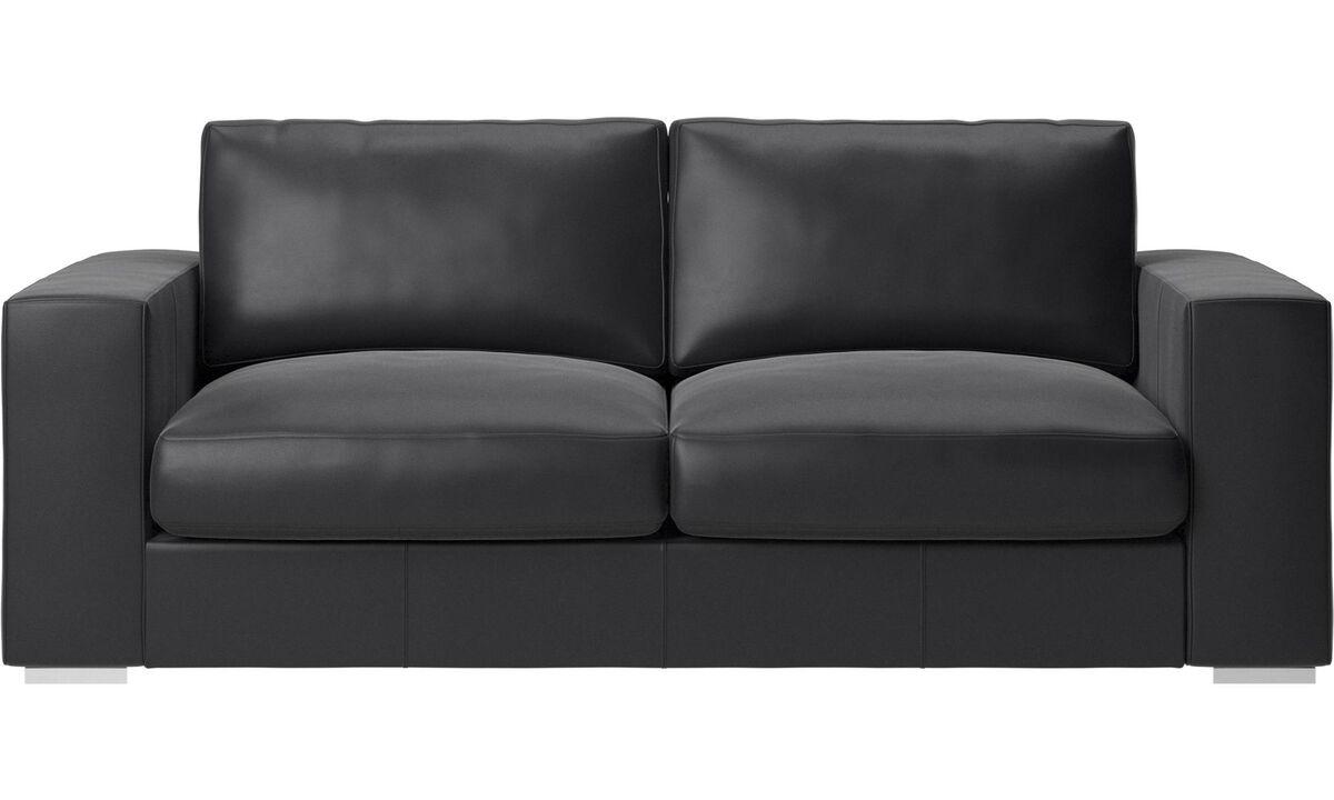 2.5 seater sofas - Cenova sofa - Black - Leather
