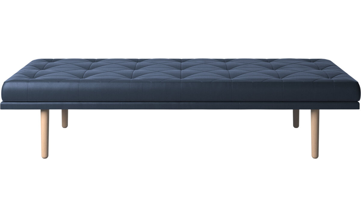 Chaises - Chaise-longue fusion - Azul - Couro