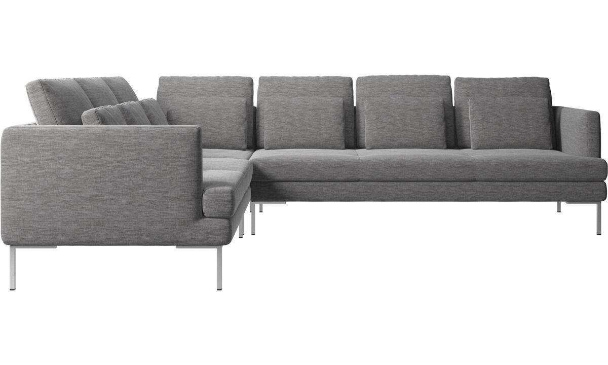 Sofás esquineros - sofá esquinero Istra 2 - En gris - Tela