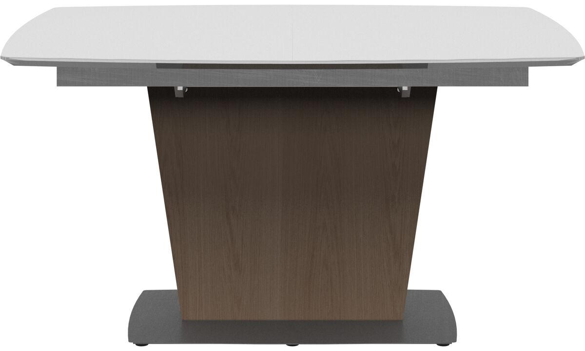Spisebord - Milano bord med tilleggsplate - rektangulær - Hvit - Keramikk