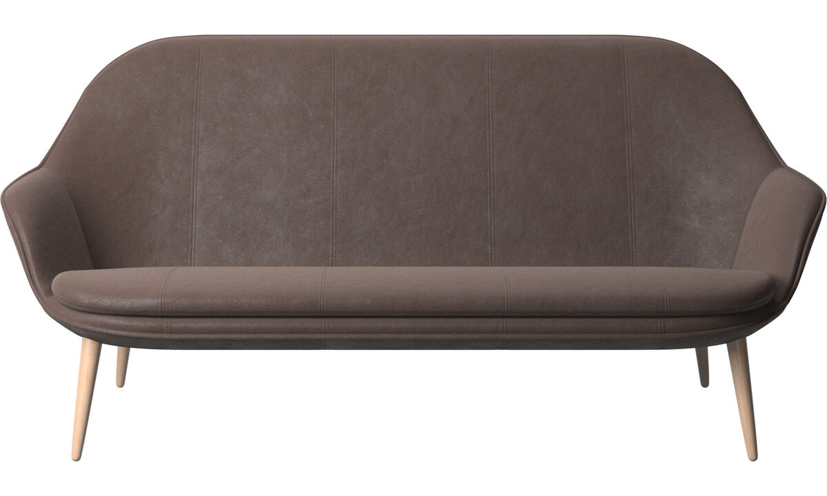 2.5 seater sofas - Adelaide sofa - Brown - Leather