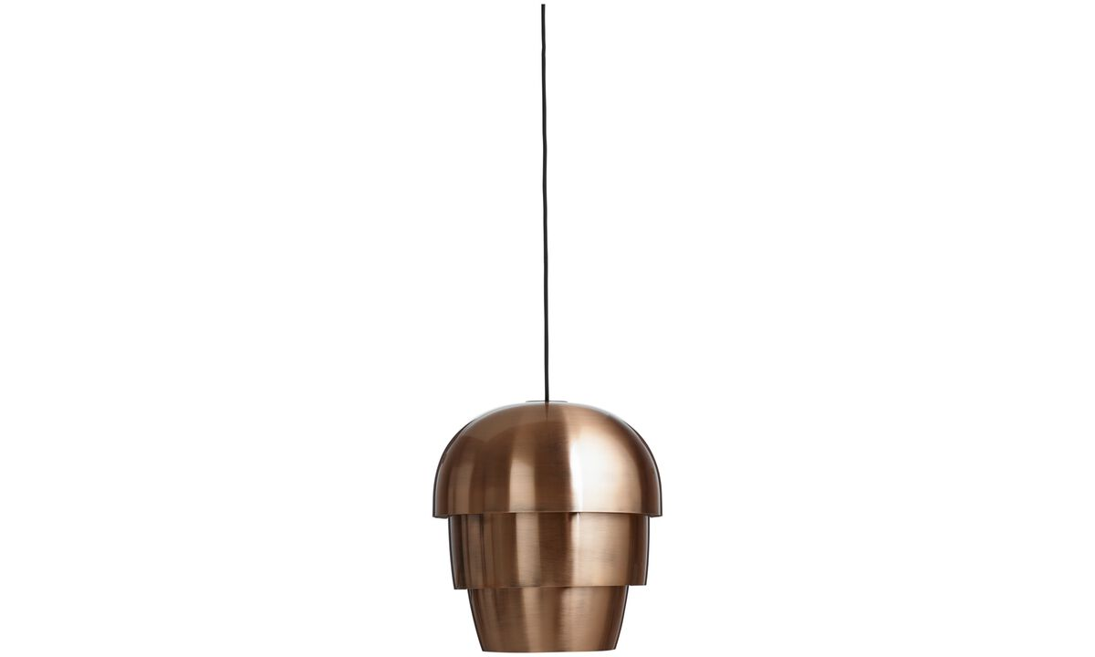 Luminaires - Suspension Pine cone - Orange - Métal
