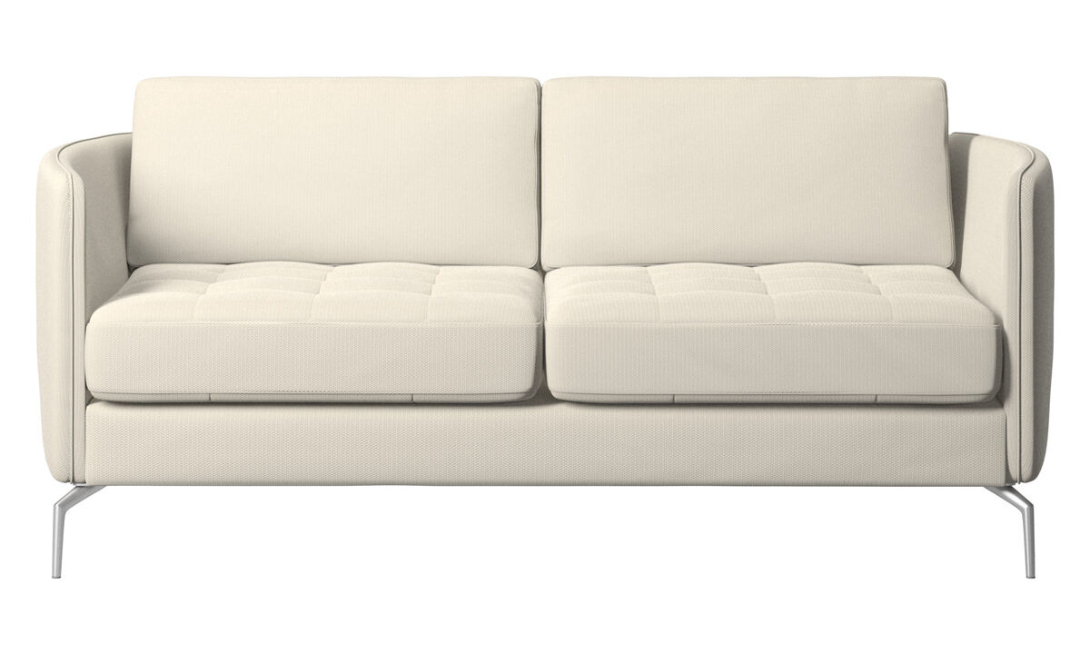 2 seater sofas - Osaka sofa, tufted seat - White - Fabric