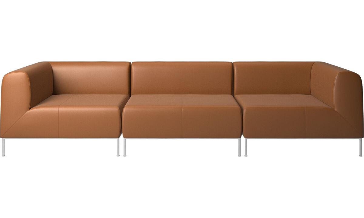 Modular sofas - Miami sofa - Brown - Leather