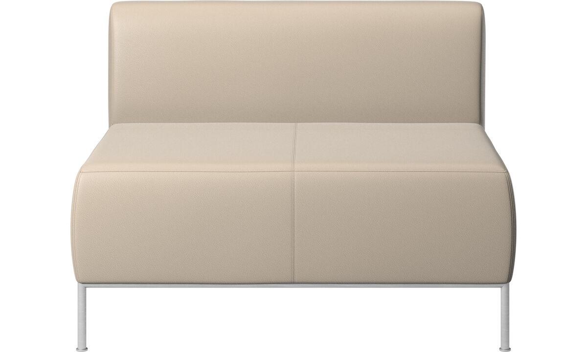 Modular sofas - Miami seat with back - Beige - Leather