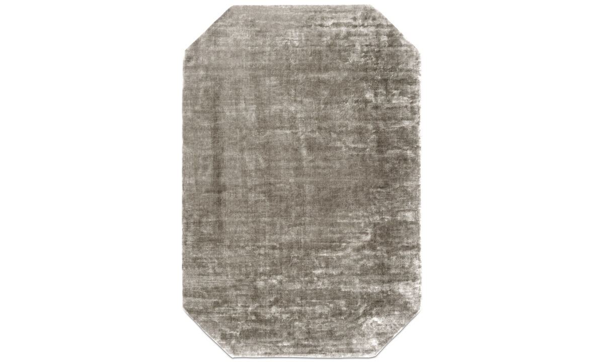 Alfombra rectangulares - Alfombra Shanghai - rectangular - En marrón - Tela
