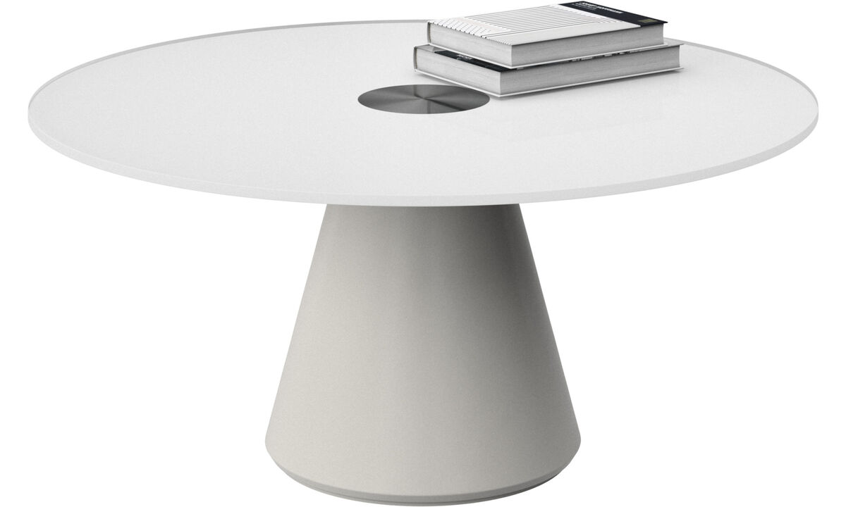 Coffee tables - Madrid coffee table - round - White - Glass