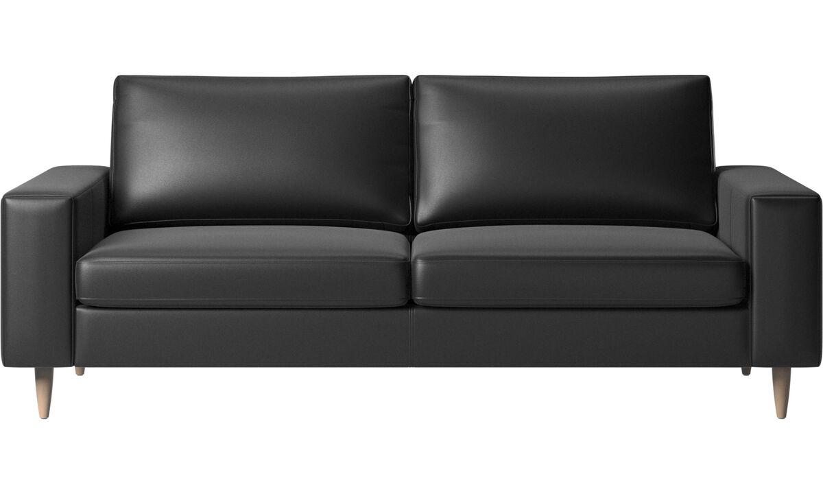 2.5 seater sofas - Indivi sofa - Black - Leather