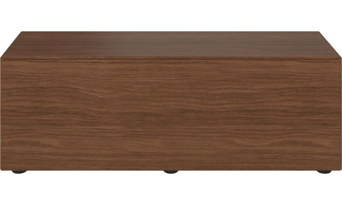 Tv units - Lugano base cabinet with drop down door - Walnut