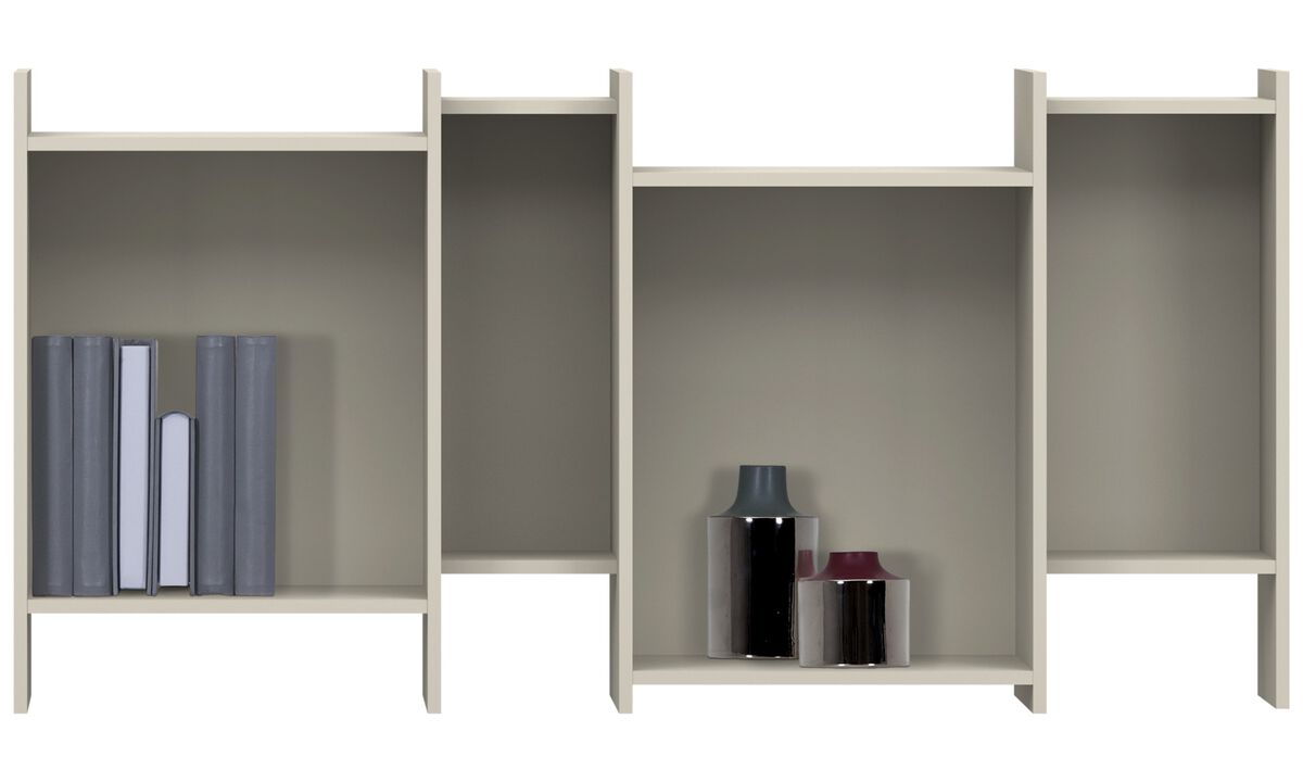Wall Units - Como bookcase - Grey - Lacquered