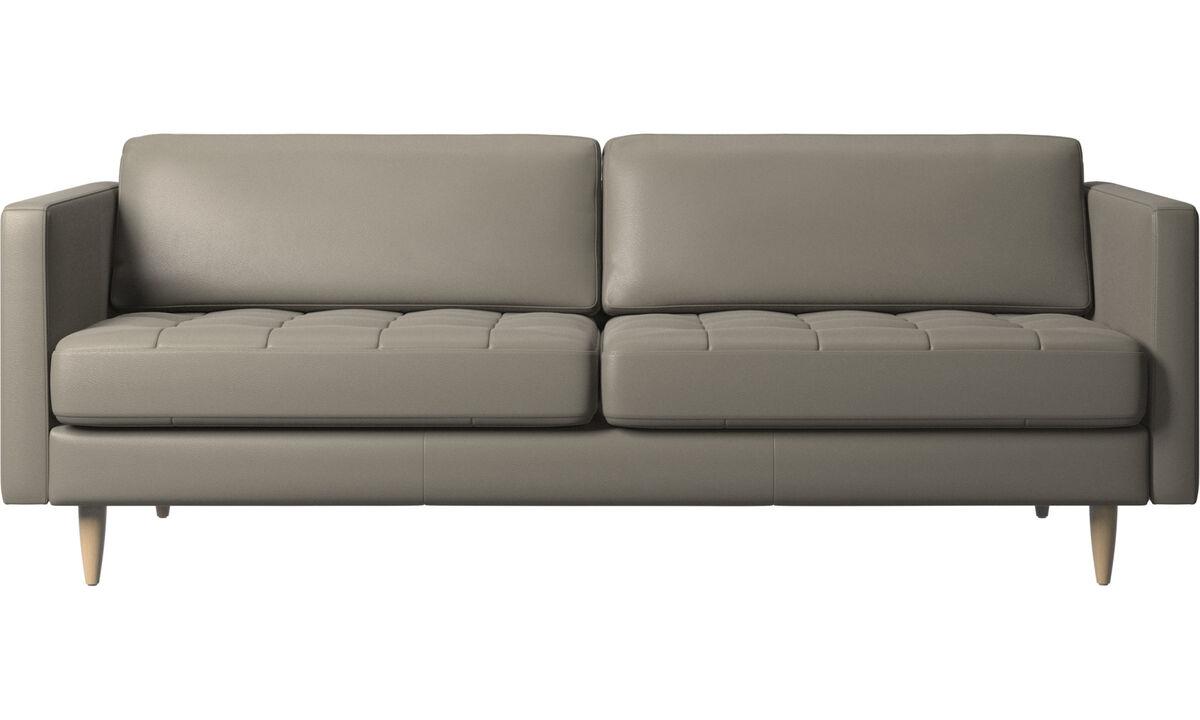 2.5 seater sofas - Osaka divano, seduta trapuntata - Grigio - Pelle
