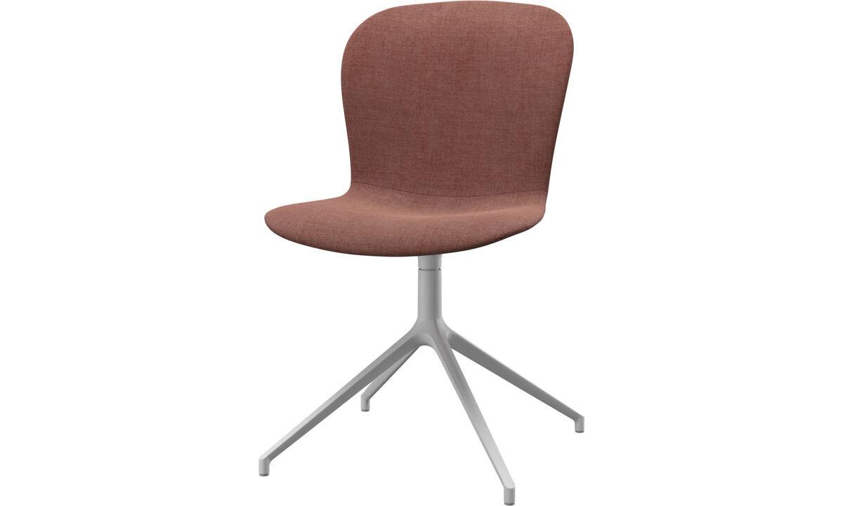 Cadeiras de jantar - Cadeira Adelaide giratória - Vermelho - Tecido