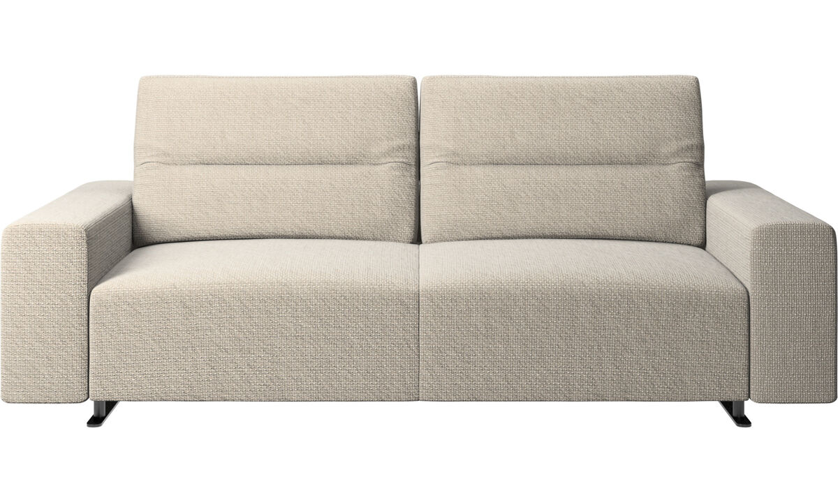 2.5 seater sofas - Hampton sofa with adjustable back - Beige - Fabric