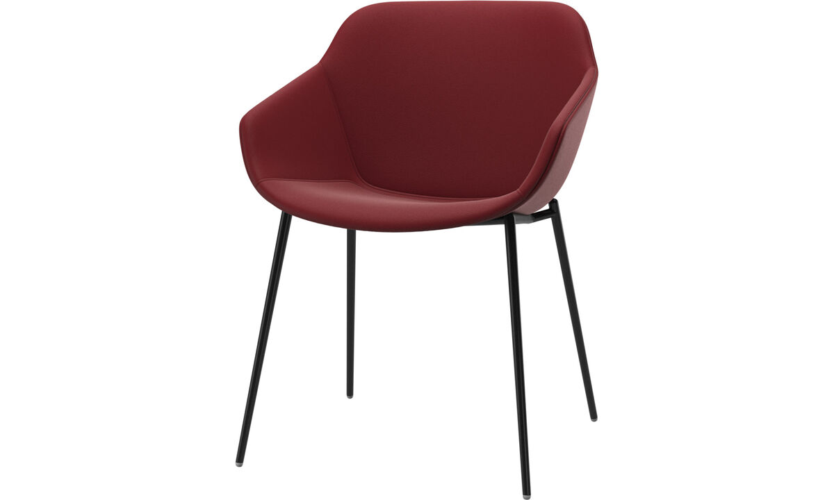 Dining chairs - Vienna chair - Red - Leather