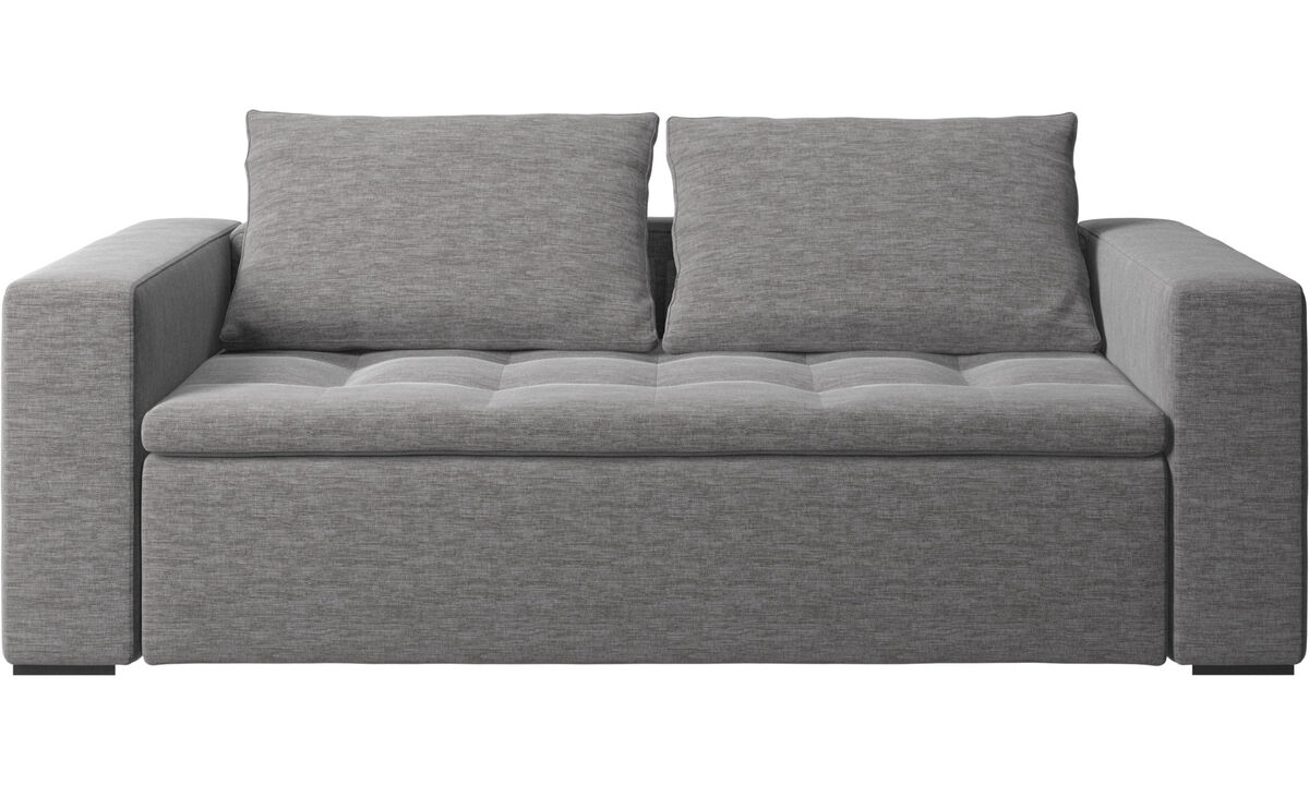 2.5 seater sofas - Mezzo sofa - Grey - Fabric