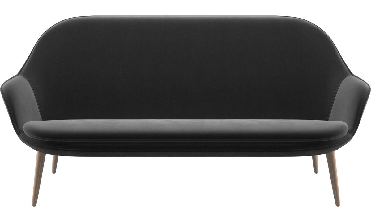 2.5 seater sofas - Adelaide sofa - Black - Fabric