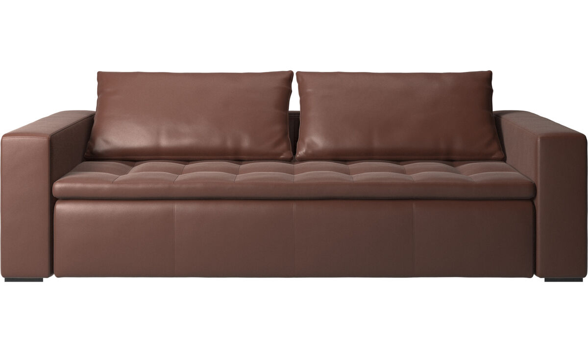 3 seater sofas - Mezzo sofa - Brown - Leather