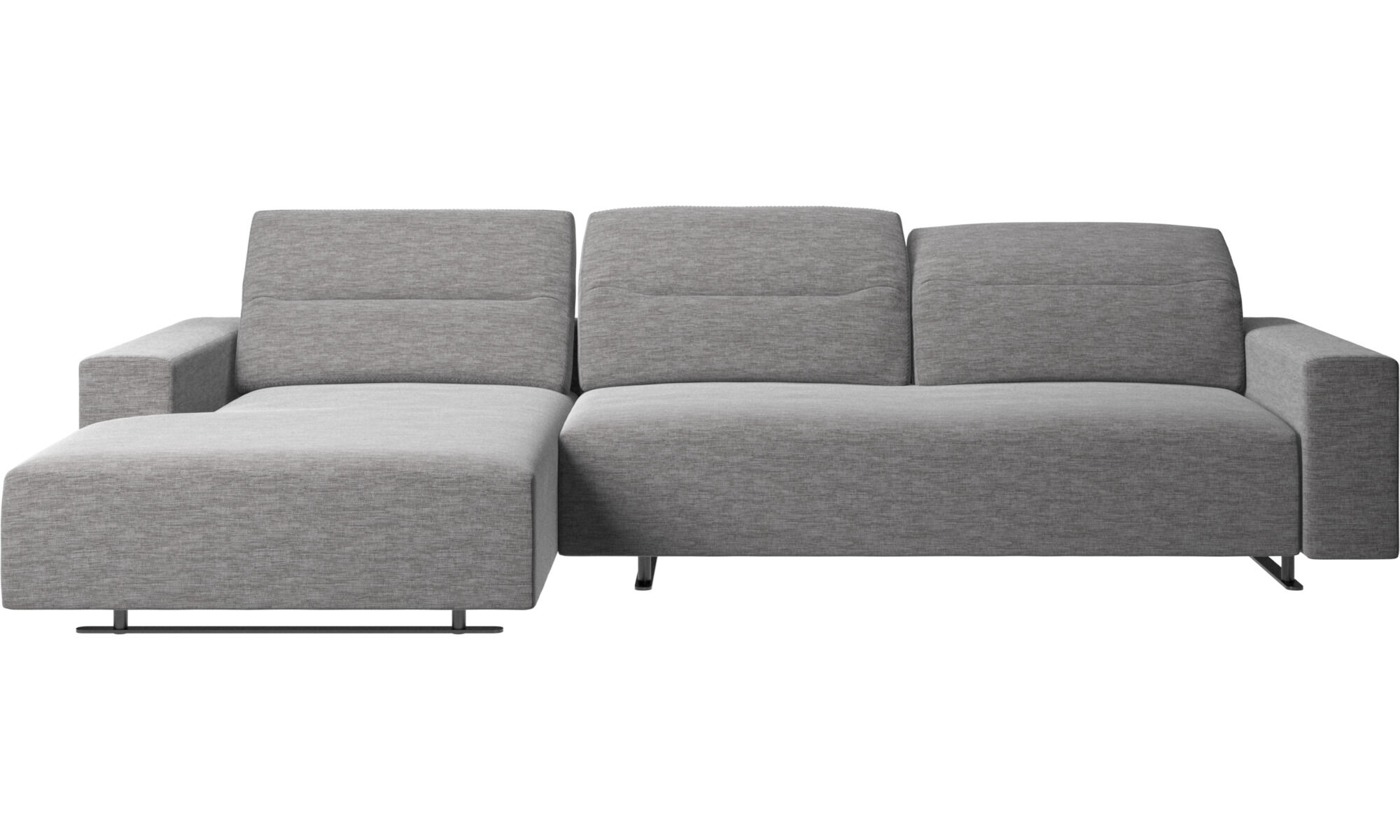 Chaise Lounge Sofas   Hampton Sofa With Adjustable Back And Resting Unit  Left Side   Gray