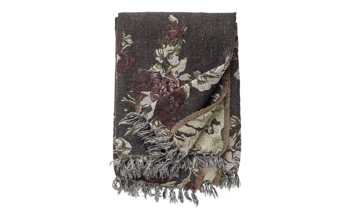 Throws & bedspreads - Rose throw - Gray - Fabric