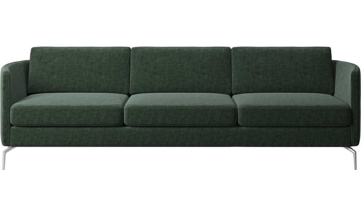 3 seater sofas - Osaka sofa, regular seat - Green - Fabric