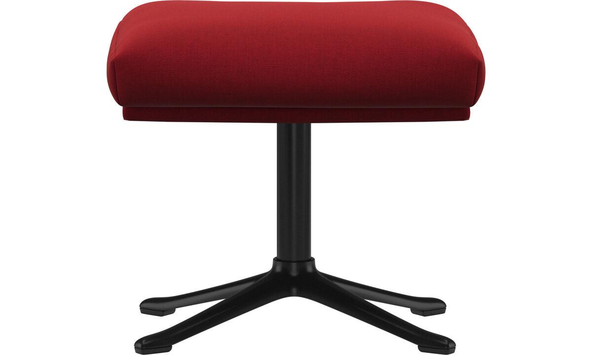Footstools - Reno footstool - Red - Fabric