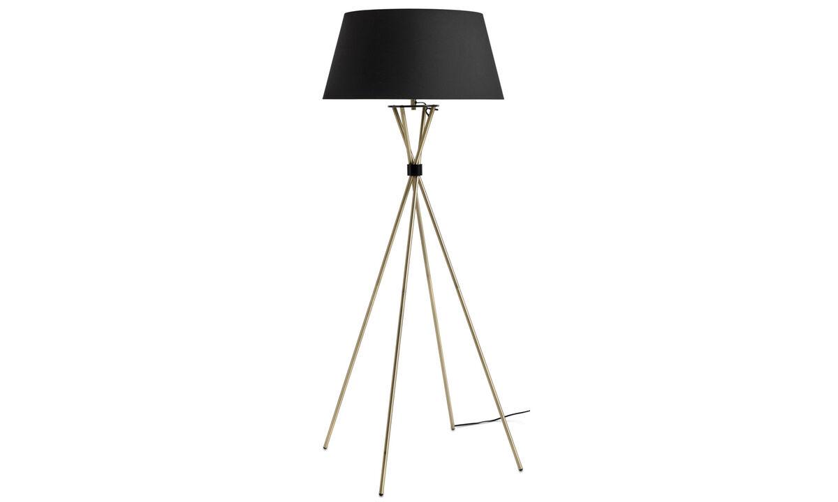 Lampy podłogowe - Lampa podłogowa Main - Żółty - Metal