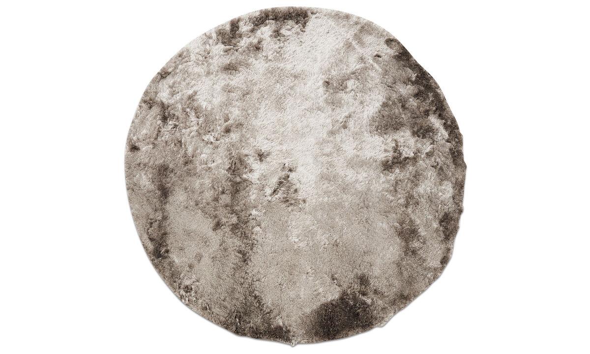 Rectangular rugs - Beijing rug - round - Grey - Polyester