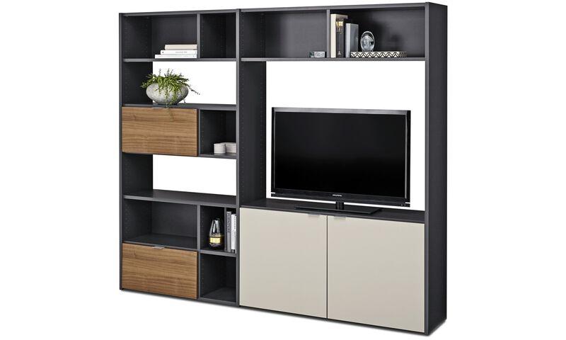 wall units copenhagen wall system boconcept. Black Bedroom Furniture Sets. Home Design Ideas