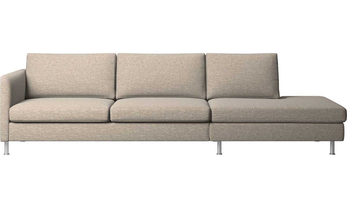 Sofas with open end - Indivi divano con lounge - Beige - Tessuto