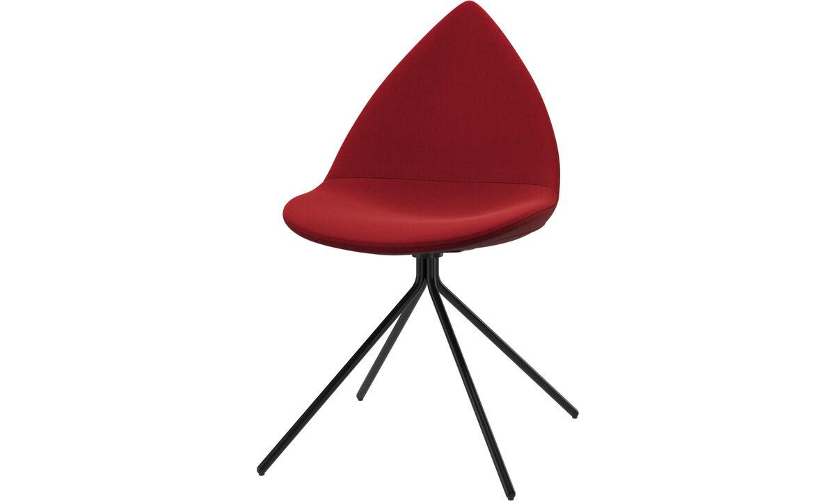 Spisestole - Ottawa stol - Rød - Stof