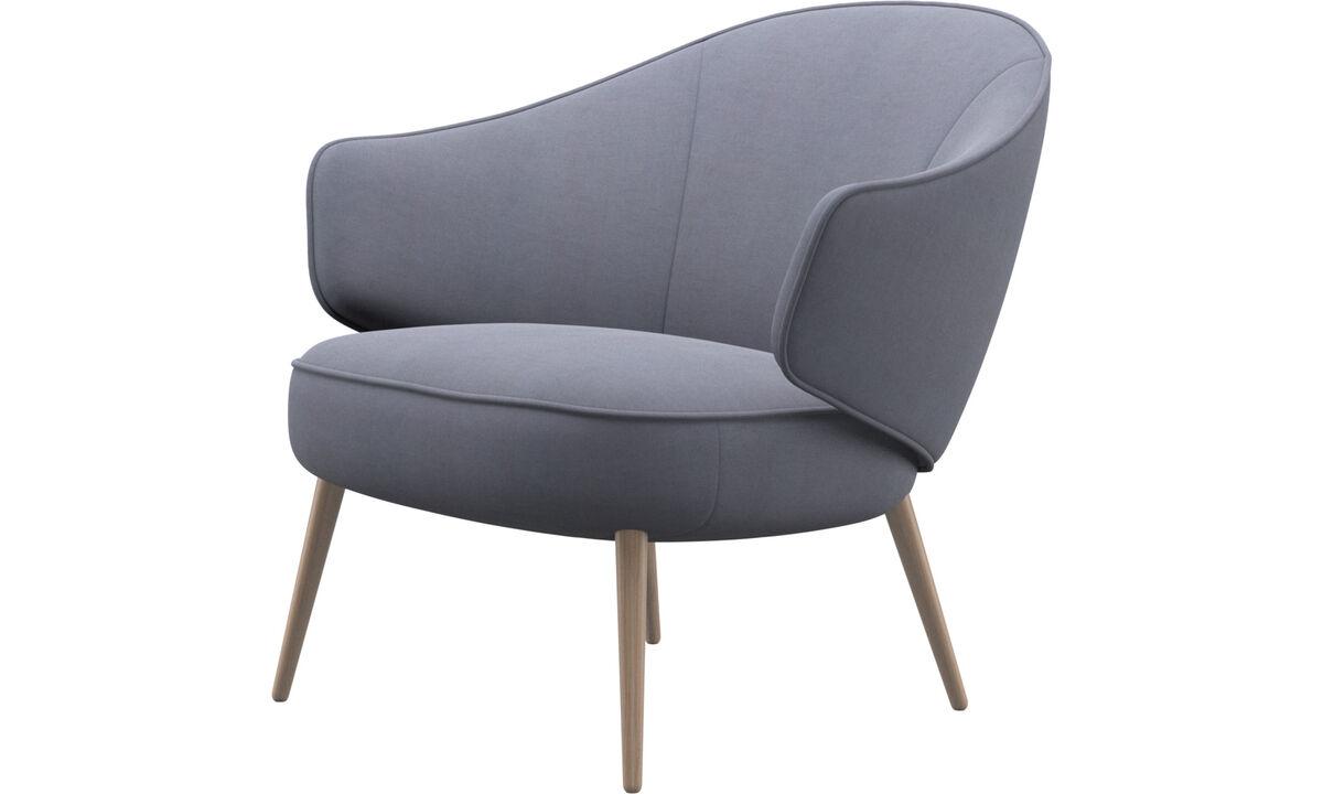 Fauteuils - fauteuil Charlotte - Bleu - Tissu