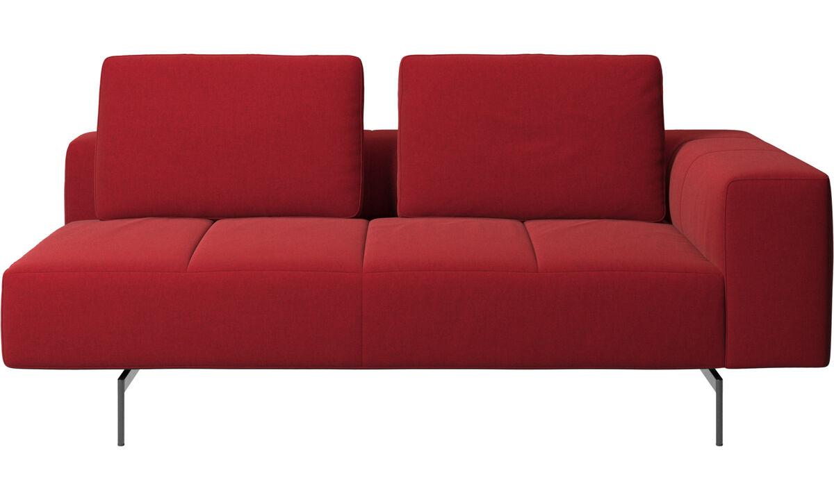 Sofás modulares - módulo de assento 2,5 Amsterdam, apoio de braço direito - Vermelho - Tecido