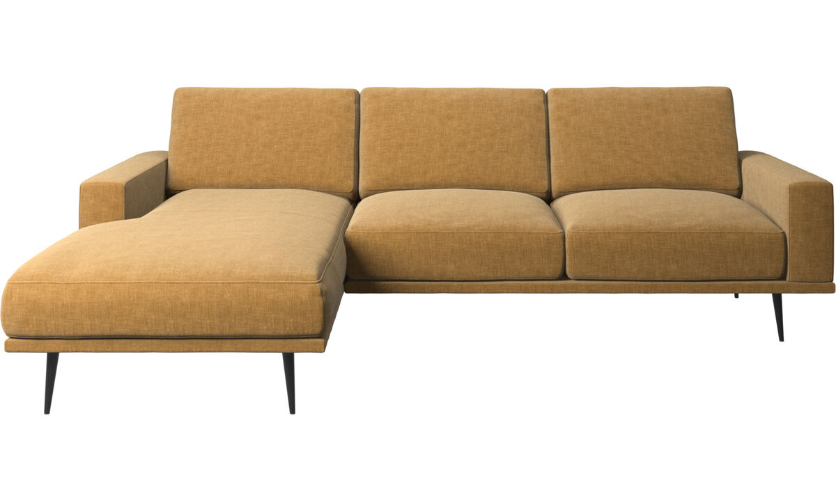 Chaise longue sofas - Carlton sofa with resting unit - Beige - Fabric