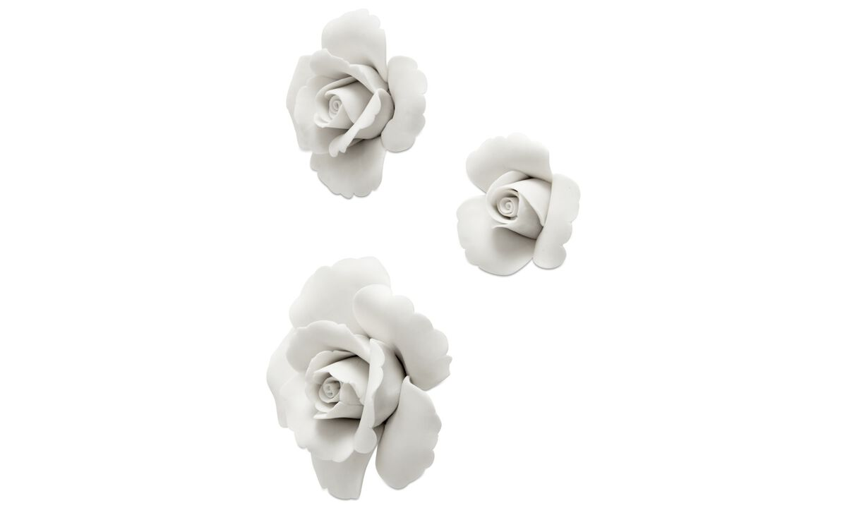 Wall decorations  - Rose wall decoration - White - Ceramic