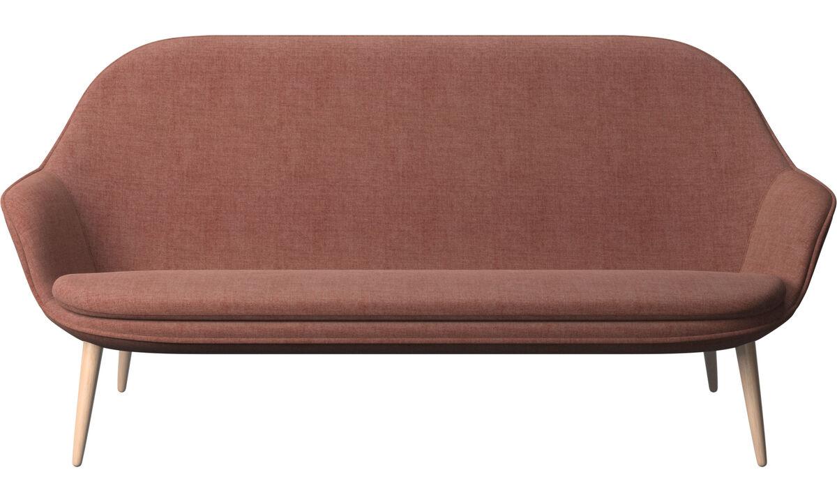 Sofás de 2 lugares e meio - Sofá Adelaide - Vermelho - Tecido