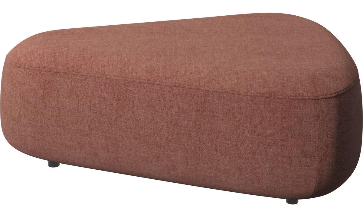 Modular sofas - Ottawa triangular pouf - Red - Fabric