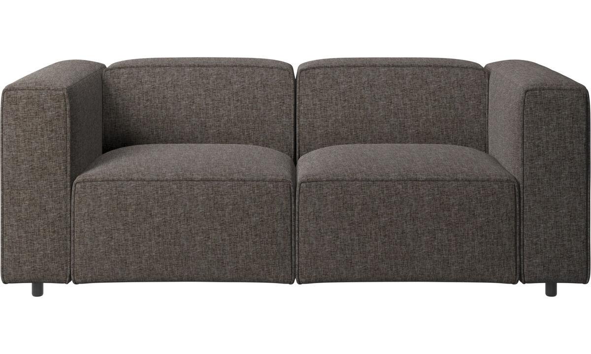 2 personers sofaer - Carmo sofa - Brun - Stof