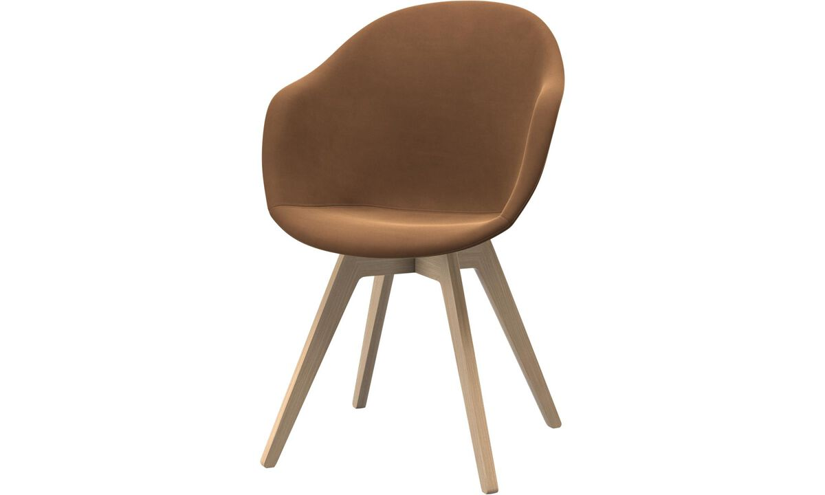 Обеденные стулья - cтул Adelaide - Коричневого цвета - Кожа