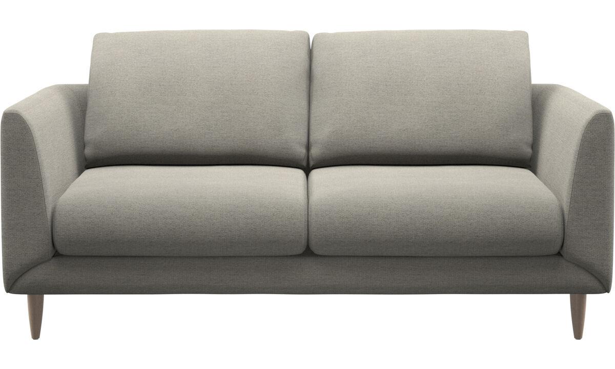 Sofás de 2 plazas - sofá Fargo - En beige - Tela