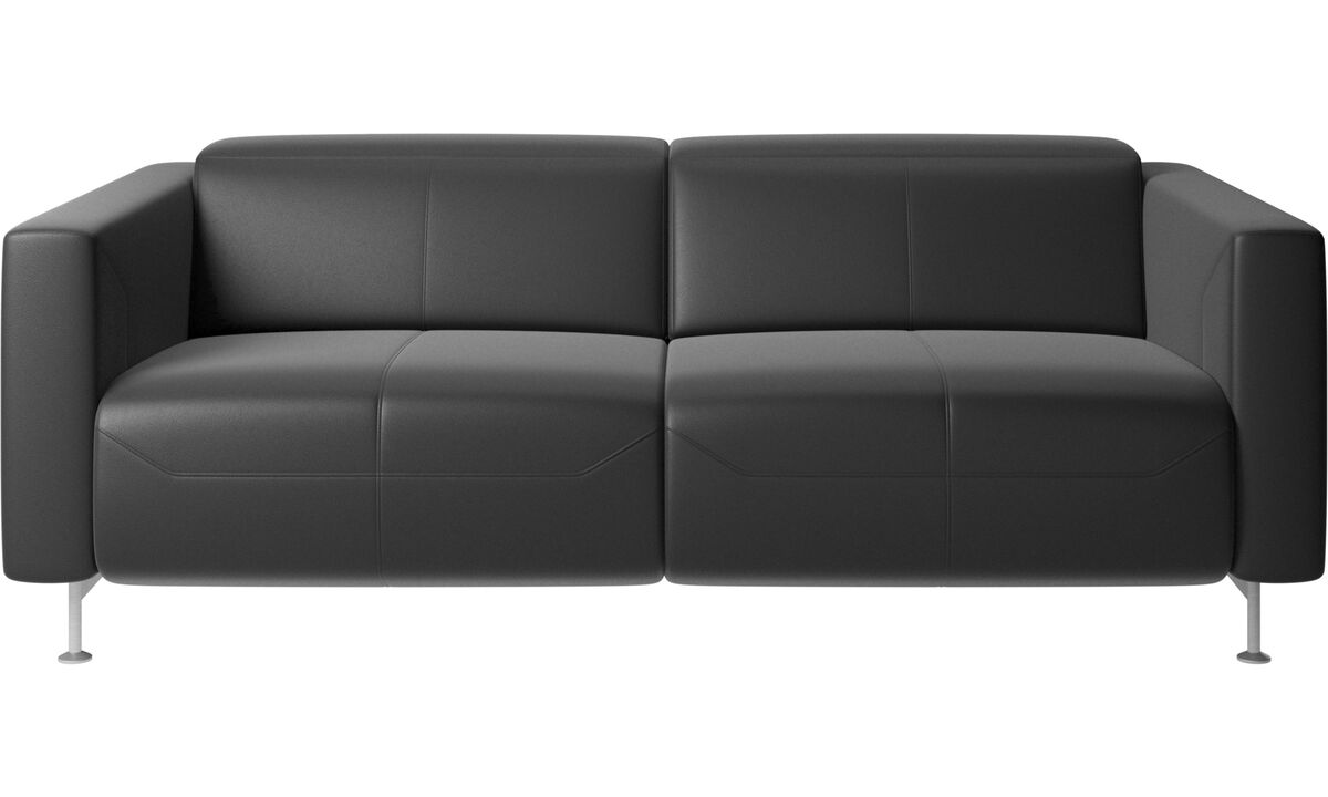 2 seater sofas - Parma reclining sofa - Black - Leather