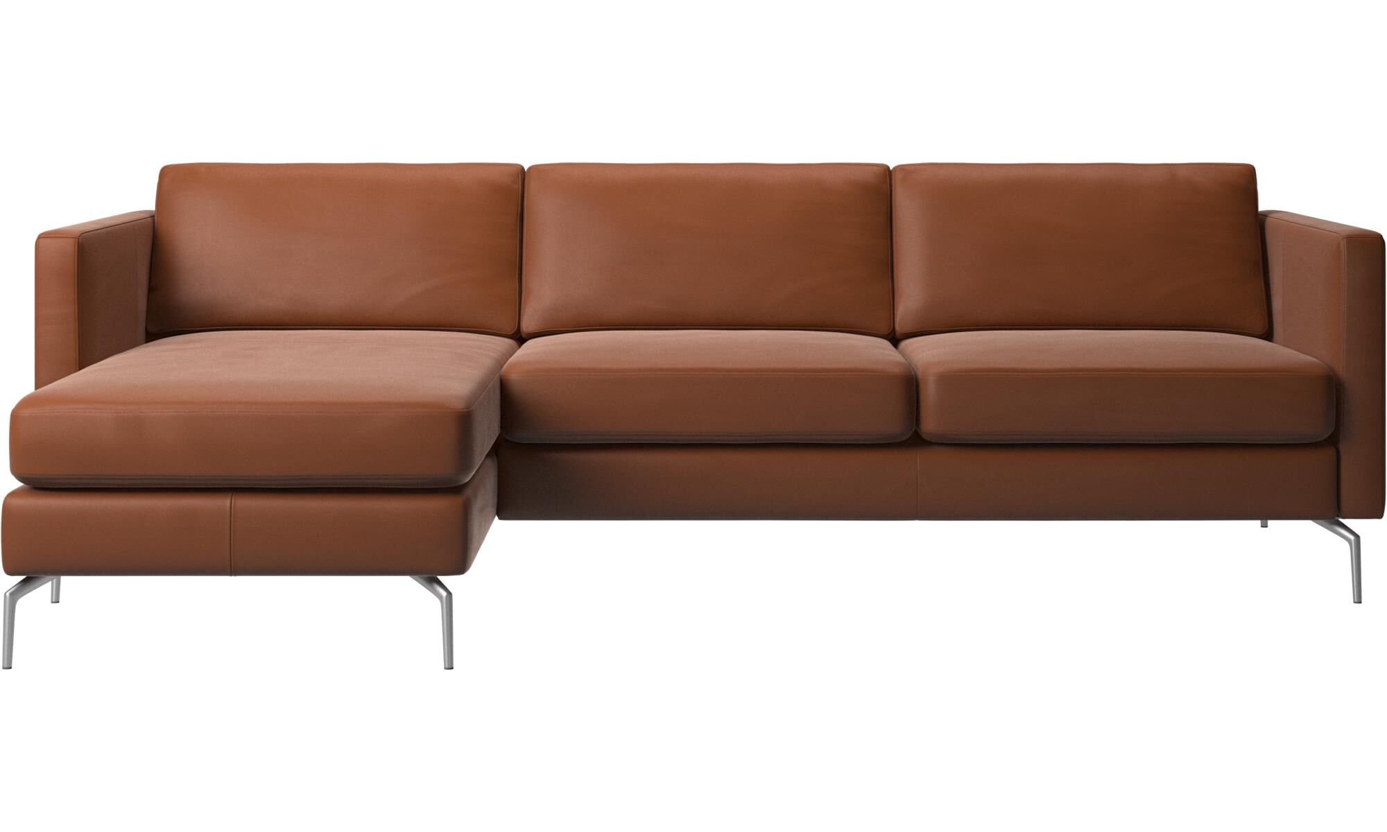 Etonnant Chaise Lounge Sofas   Osaka Sofa With Resting Unit, Regular Seat   Brown    Leather