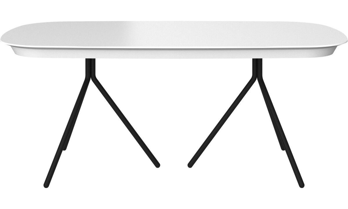 Dining tables - Ottawa tavolo con piano supplementare - ovale - Bianco - Laccato