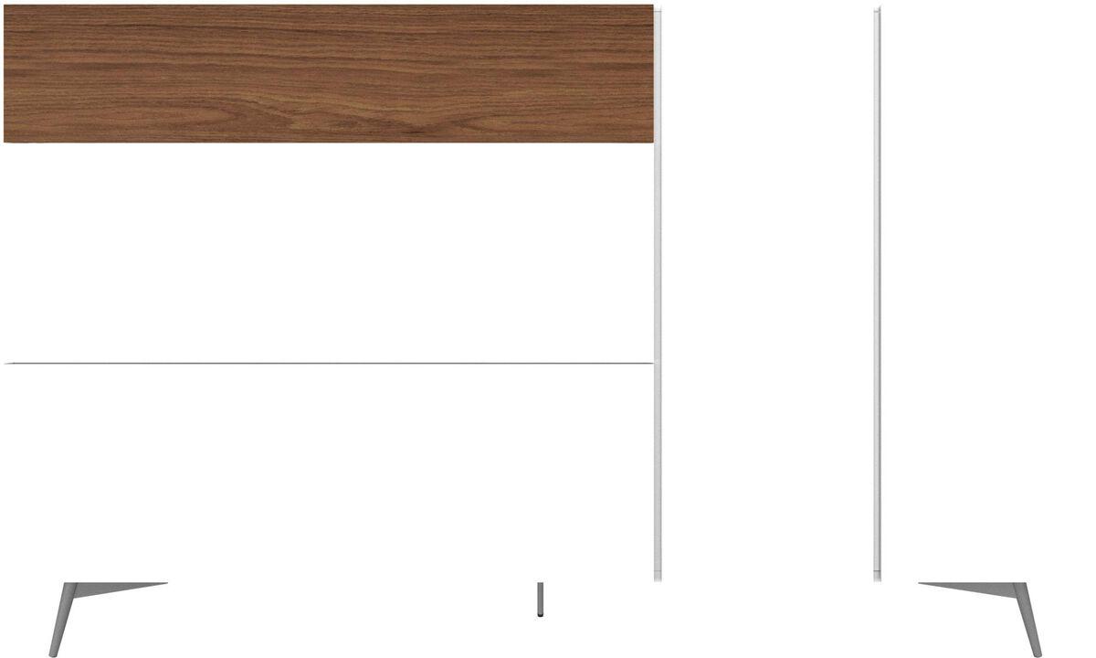 Sideboards - Lugano Highboard mit Schubladen und Klapptür - Weiss - Lack