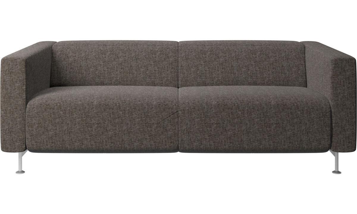 Sofás de 2 plazas y media - Sofá reclinable Parma - En gris - Tela