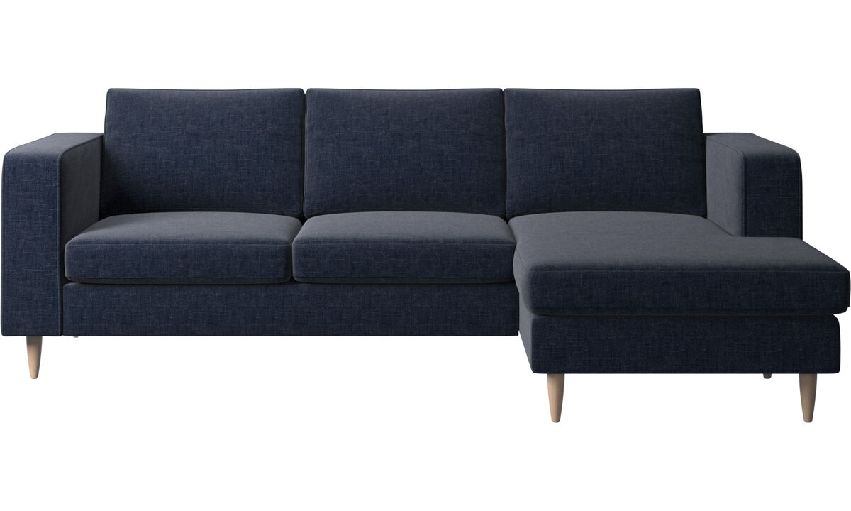 Navy Blue Napoli - Indivi 2 sofa with resting unit - Blue - Fabric