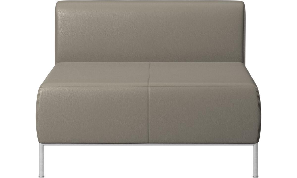 Sillones - asiento Miami con respaldo - En gris - Piel