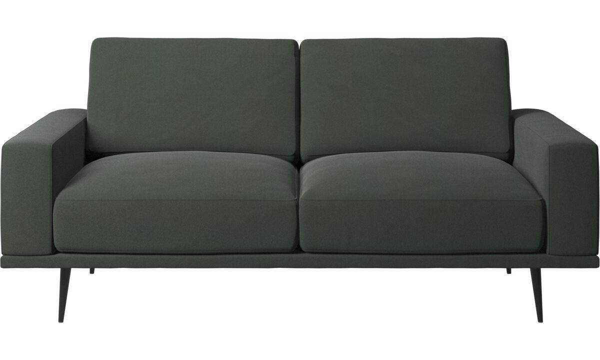 Sofás de 2 plazas - sofá Carlton - En verde - Tela