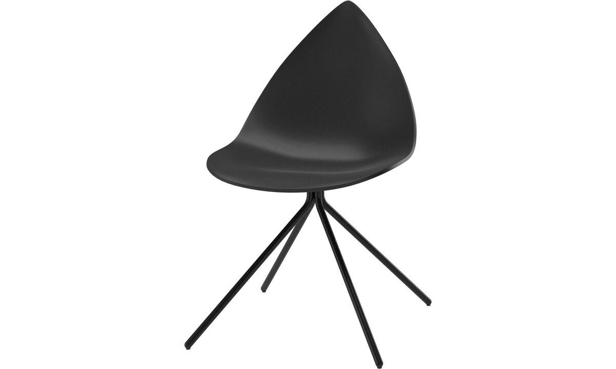 Cadeiras de jantar - cadeira Ottawa - Preto - Lacado